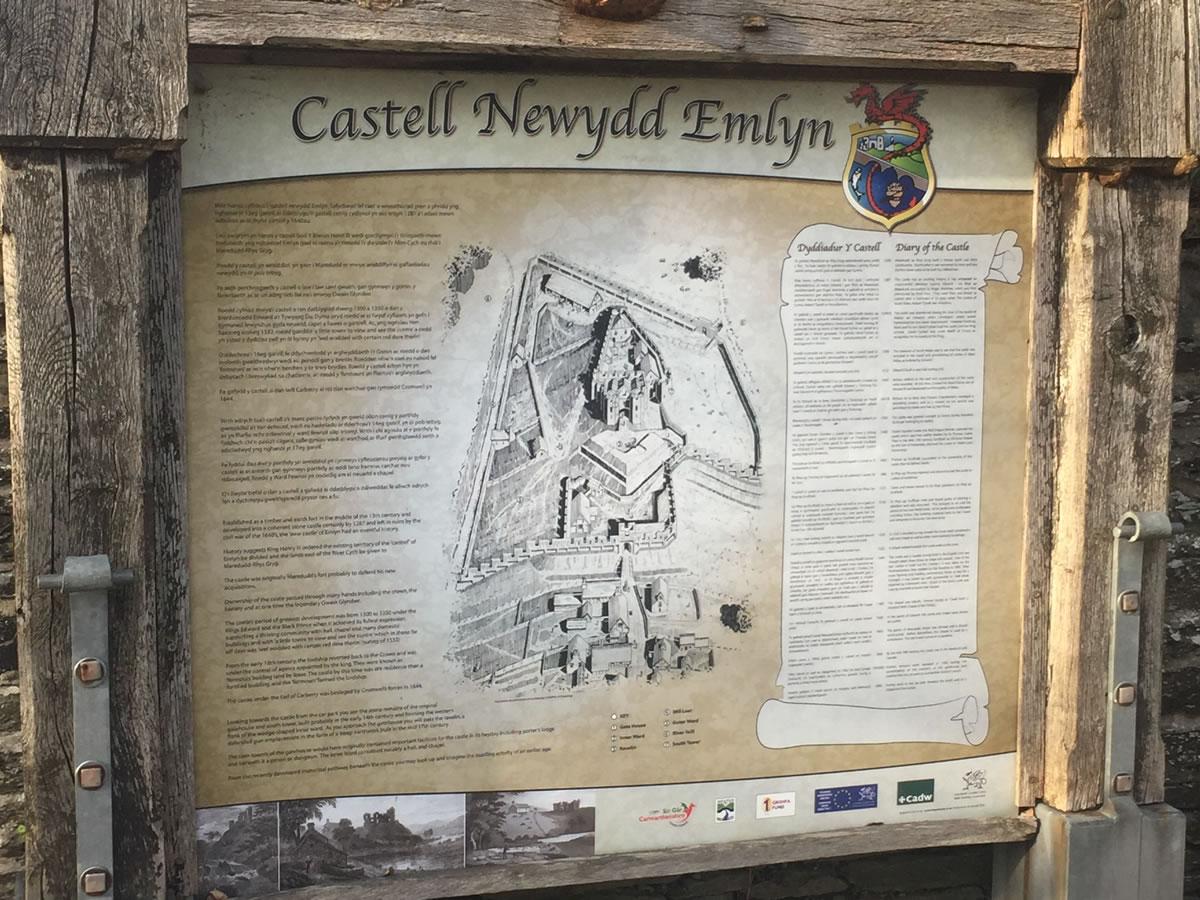 Newcastle Emlyn, information board