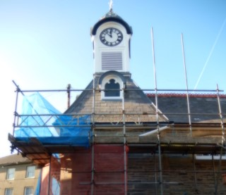 Scaffolding removed and the renewed clock tower can be seen again.
